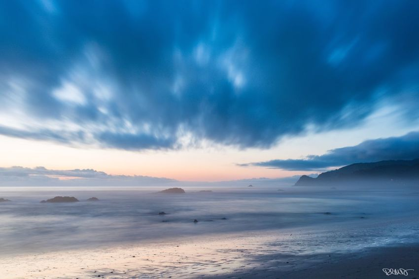 Oregon Coast Beach Lincoln City, Oregon After Sunset Nature Tranquil Scene Long Exposure Tranquility Cloud - Sky Water Sea Sand No People Best EyeEm Shot
