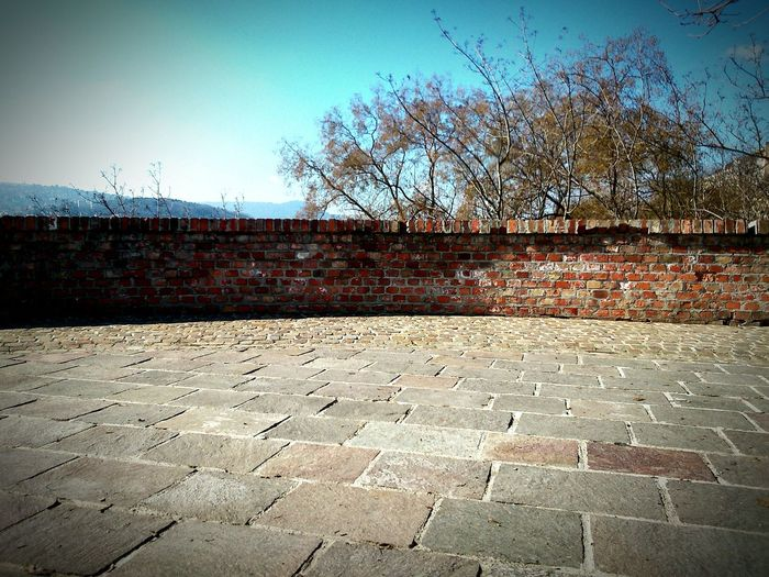 Budapest, Hungary Street Photography Stone Brickwall Sky And Clouds My Country In A Photo