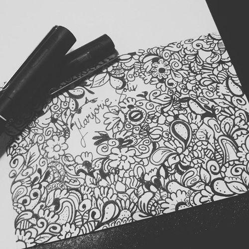 ✒ Art Calligraphy Pen Unipin Vellum Doodle Art Style Doodleart Love Instaartist Instaart Likeforlike Instalove