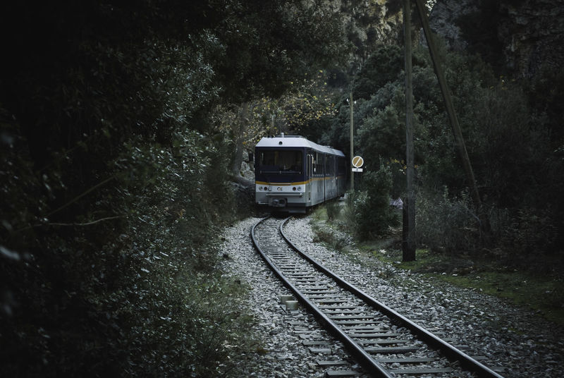 Odontotos rack railway.. Kalavryta Rack Railway Adventure Beauty In Nature Day Forest Kalavrita Locomotive Mode Of Transport Nature No People Odontotos Outdoors Public Transportation Rail Transportation Railroad Track Railway Sky Train - Vehicle Transportation Travel Tree Be. Ready.