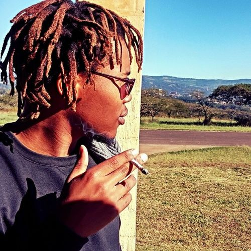 Morning spliff to start the day, ya know :) Spliff Doobie  Smoking Marijuana morning sun pmb naturalhair dreads jahbless irie