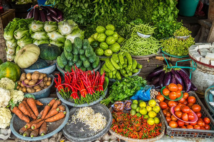 Various vegetables for sale