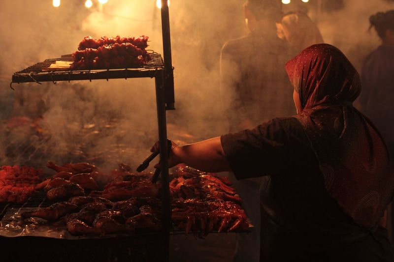 Gadong Night Market Street Food Food One Person Real People Food And Drink Night Market First Eyeem Photo