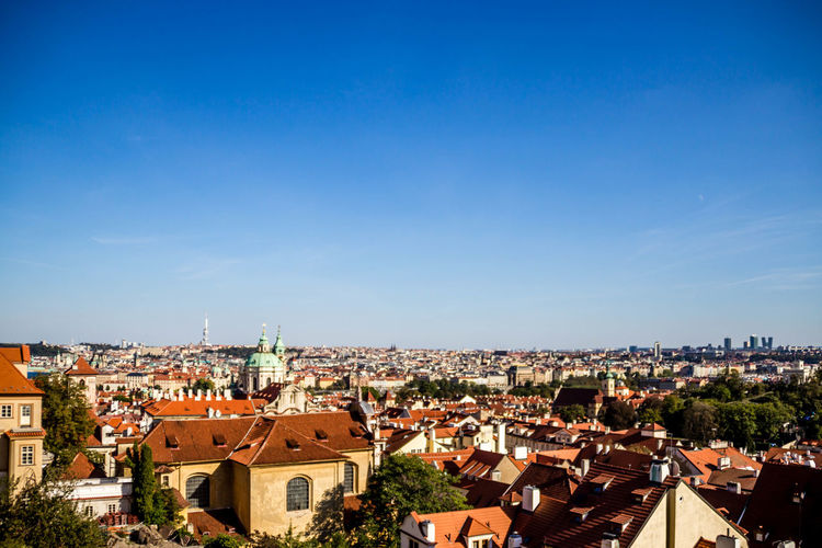 Architecture Roof Nature City Sky Blue Building Day Town Outdoors Community Cityscape Crowd Crowded Clear Sky TOWNSCAPE Copy Space High Angle View Building Exterior Residential District Built Structure EyeemTeam House Settlement