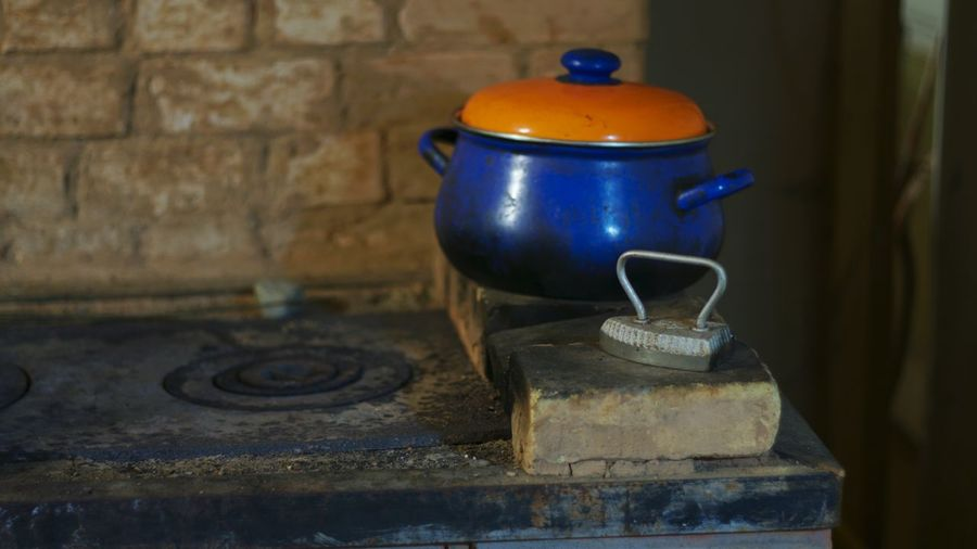 stove No People Interior Vintage Cooker Iron Stove Brick Wall Old-fashioned Blue Antique Retro Styled Close-up Oven Burner - Stove Top Wood Burning Stove Pottery Pot Cooking Pan The Still Life Photographer - 2018 EyeEm Awards