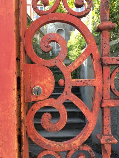 Rusty Red Close-up Day No People Outdoors Wrought Iron Typical Riviera Ligure Gardendoor Detail