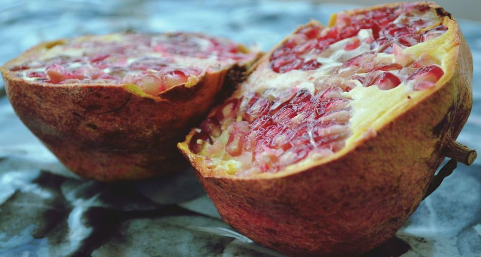 Close-Up Of Rotting Pomegranate