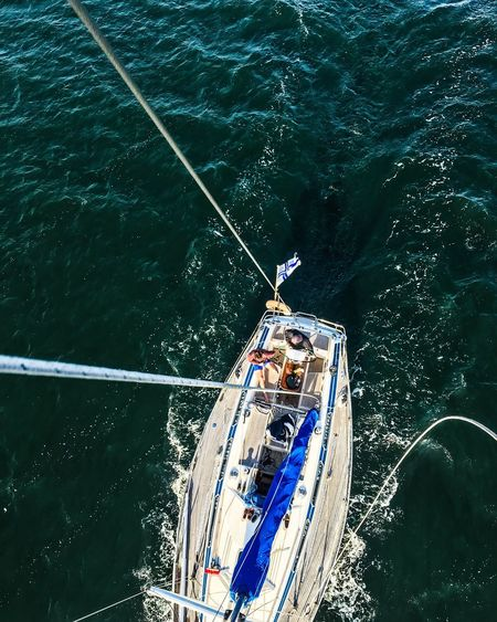 Hanging... A Bird's Eye View Sailboat Summer2016