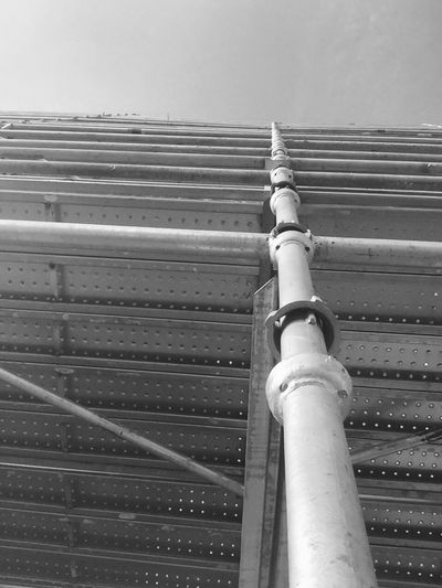 Lots of steel Pipe - Tube Low Angle View Architecture Sky