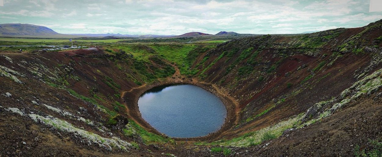 Meteor Crater Lake Water Landscape Mountain Nature Travel Destinations Tourism Remote Majestic