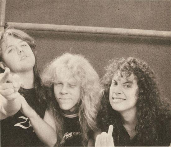 James Hetfield Metallica Kirk Hammett