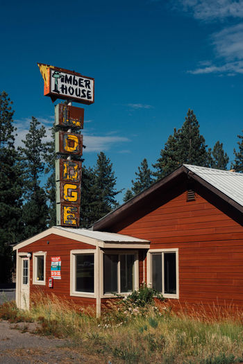 Timber House Abandoned Architecture Built Structure Forecast Love Motel No People Signboard Western Script