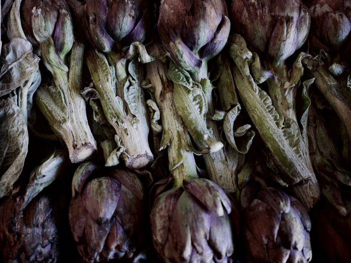 Full frame shot of artichokes