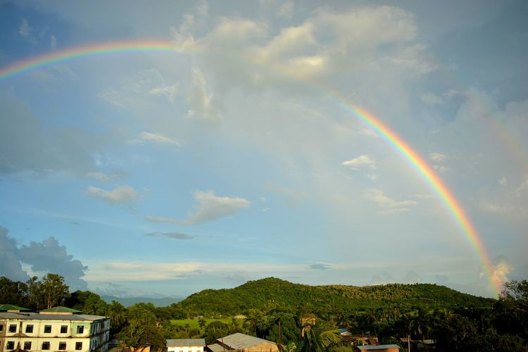 Rainbow Cloud - Sky Idyllic Scenics No People Beauty In Nature Nature Outdoors Tranquility Day Sky Landscape Mountain