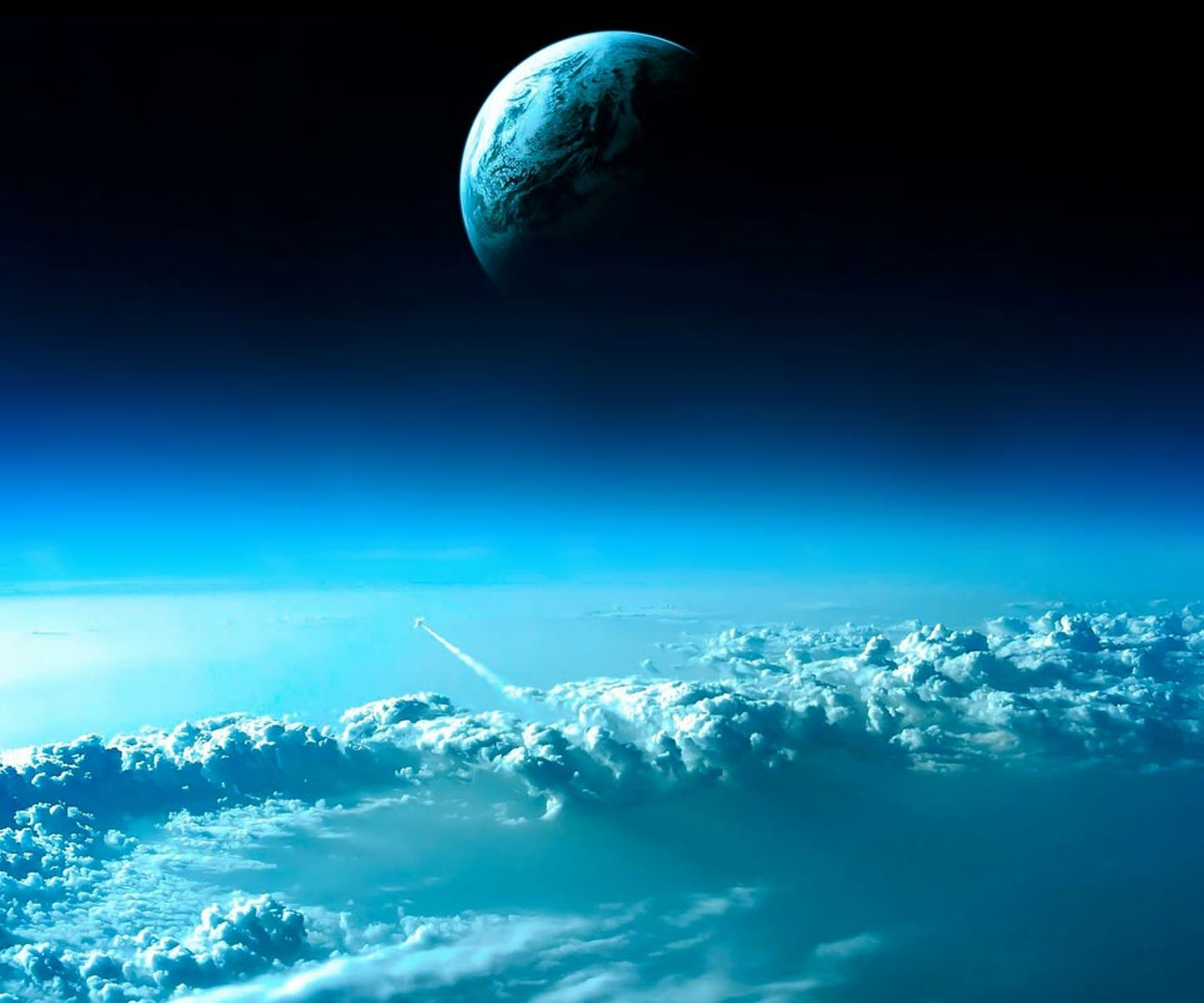 blue, scenics, mid-air, beauty in nature, flying, moon, tranquil scene, tranquility, nature, low angle view, clear sky, majestic, idyllic, astronomy, night, copy space, sky, mountain, outdoors, no people