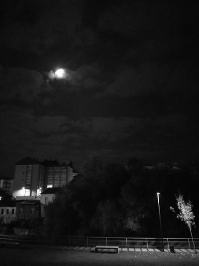 Night Sky Moon Moon_collection Moonlight Sky_collection Tranquil Scene Huawei P 9 Black And White Photography MonochromePhotography