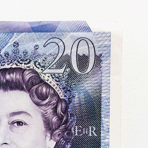 Twenty pound note Twenty 20 Pound Note Quid Queen Elizabeth  Uk Stirling Money Currency