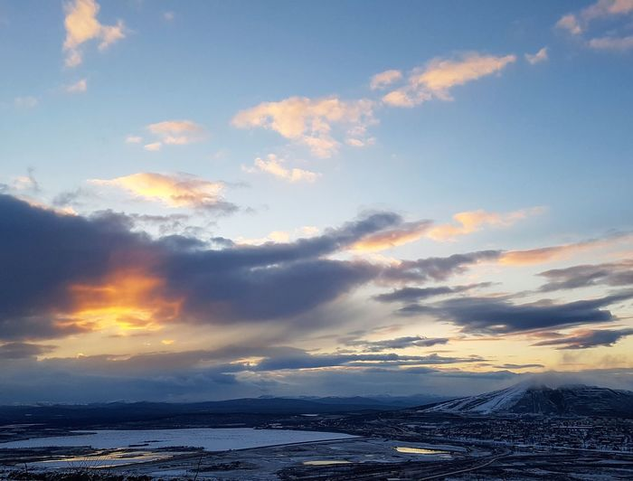 Cloud - Sky Sunset Outdoors Sea Landscape Nature No People Water Cold Temperature Scenics Snow Day Winter Sky Horizon Over Water Beauty In Nature Astronomy Sc:dynamike73 Nature Folowmesnapchat Mikaeljohansson73 Architecture Kiruna