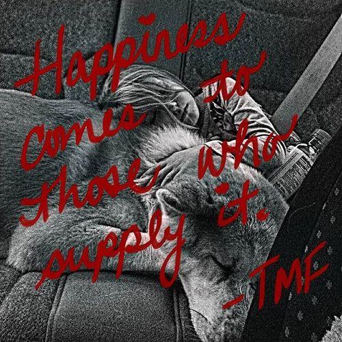 """Happiness comes to those who supply it."" --TMF. Happiness Happy Behappy Peace Harmony Carmella Taramae Akitasofinstagram Hachi Littlegirlandherdog Theymakemehappy Paradise Love LoveThem"
