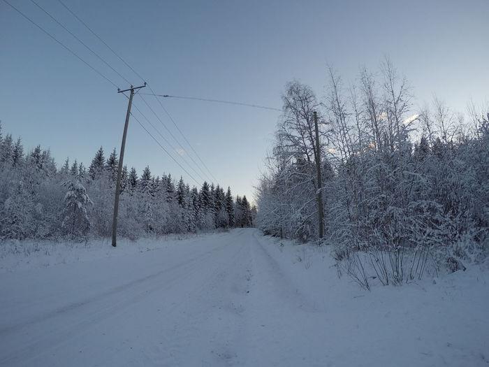 White road Snow