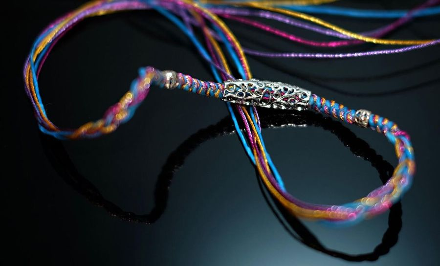 bracelet Multi Colored Cable Technology Abstract Black Background Internet Eyesight No People Bracelet Craft Porduct Cores Handmade Product Photography EyeEmNewHere Lieblingsteil The Week On EyeEm
