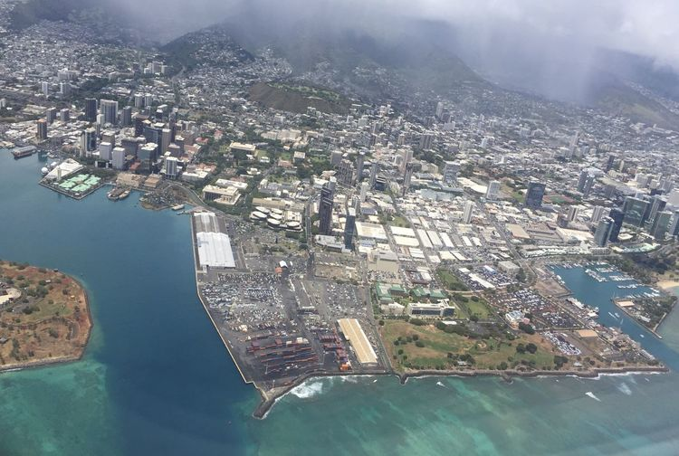 Maui Aerial View Airplane Architecture Building Exterior Built Structure City Cityscape Day High Angle View Nature No People Outdoors Water
