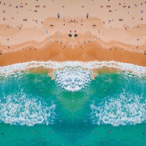 Symmetry Drone  Drones Phantom4pro Dji Focusaustralia Aerial Beach Bondi EyeEm Selects Close-up Sand Dune Wave Surf Shore Tide Coast Surfer Crashing Sand Rushing