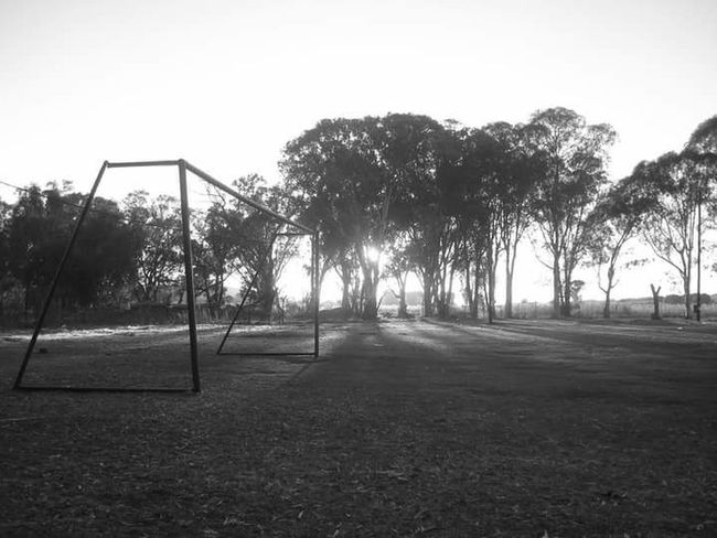 Playground Outdoor Play Equipment Soccer Soccer Field No People Blackandwhite Photography Beauty In Nature EyeEmNewHere Silouette & Sky EyeEm Selects