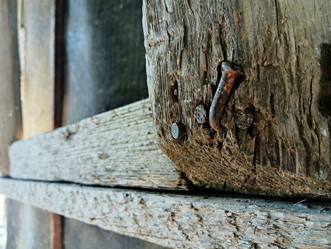 Hobnails Wood - Material Old Textured  Outdoors No People Mobilephotography LeTv X600 Letv LeEco