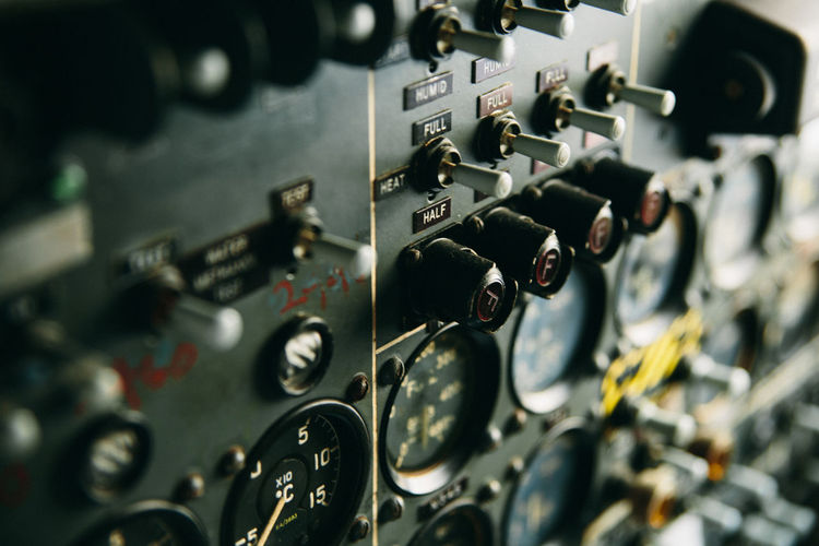 Aircraft Aviation Control Panel Dial History Military Airplane No People The Week On EyeEm