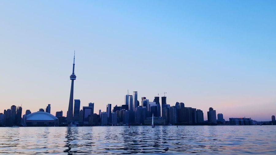 Toronto Cityscape Against Clear Sky