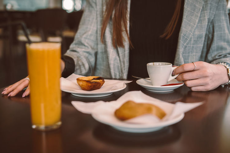 Close-up of breakfast served on table at restaurant