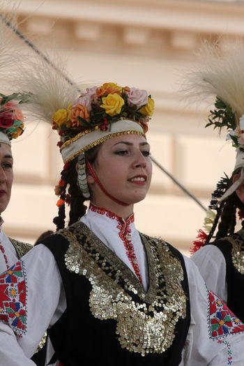 Traditional dancers during traditional festival