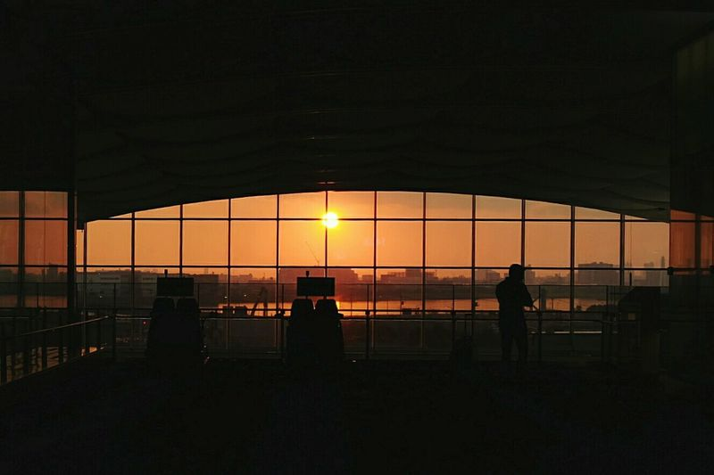 An airport sunset Airport Airportphotography Sunset Silhouettes Sunset Departures