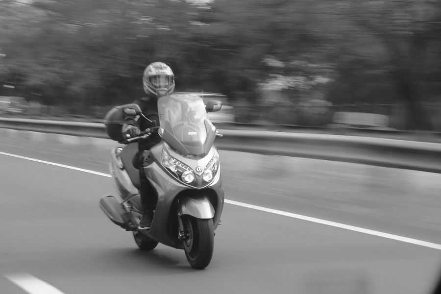 Panning Shoot Panningphotography Panning Blackandwhite Black And White Black & White Monochrome Motorcycle Speed Riding Transportation Day Outdoors People Road Biker One Person Motion Adult Adults Only