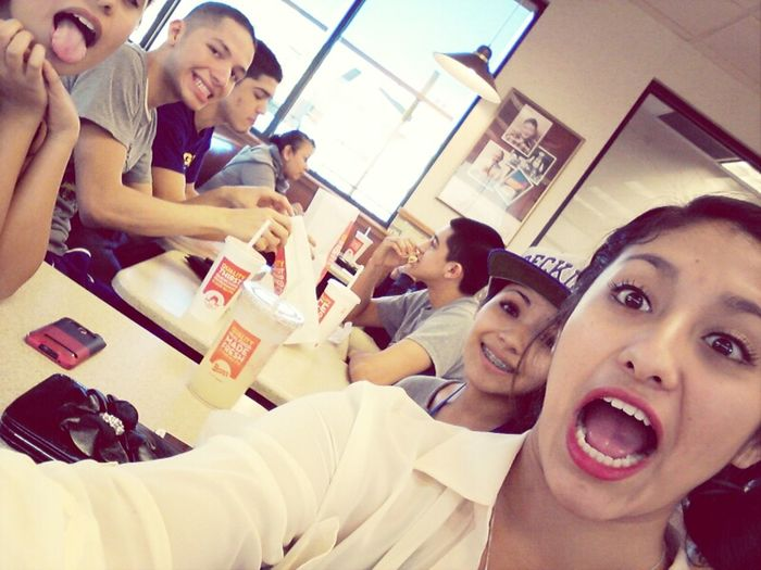 yesterday at wendys <3 :')