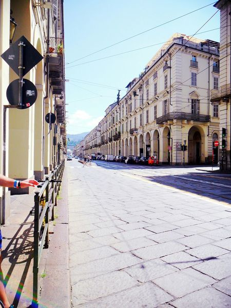 Finally, good weather for sightseeing. Italy Turin Torino Holiday Summer Beautiful Street Iloveit Arcades Old Buildings