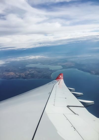 Window Seats Aircraft Wing Istanbul From Above Sky And Clouds Feeling Earth Travel Over Turkey Turkish Sky