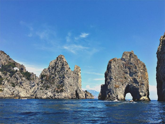 Capri. Be. Ready. Be.Ready EyeEm EyeEm Best Shots EyeEmNewHere Beauty In Nature Blue Day Natural Arch Nature No People Outdoors Physical Geography Rock - Object Rock Formation Scenics Sea Sky Tranquil Scene Tranquility Water Waterfront