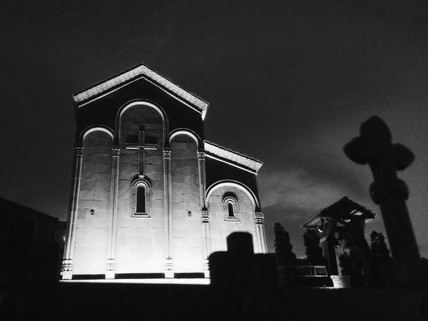 Tbilisi Church Cityscapes Black & White