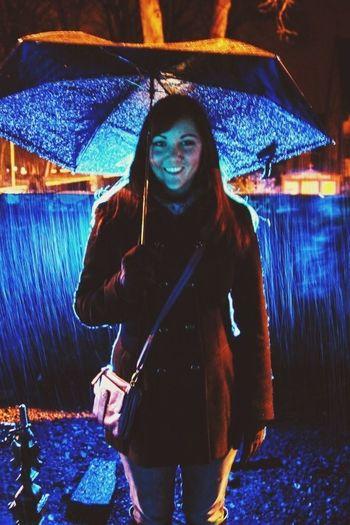 my beautiful friend kelly in a Scottish grave yard Scotland Brigadoon Cemetary Rain
