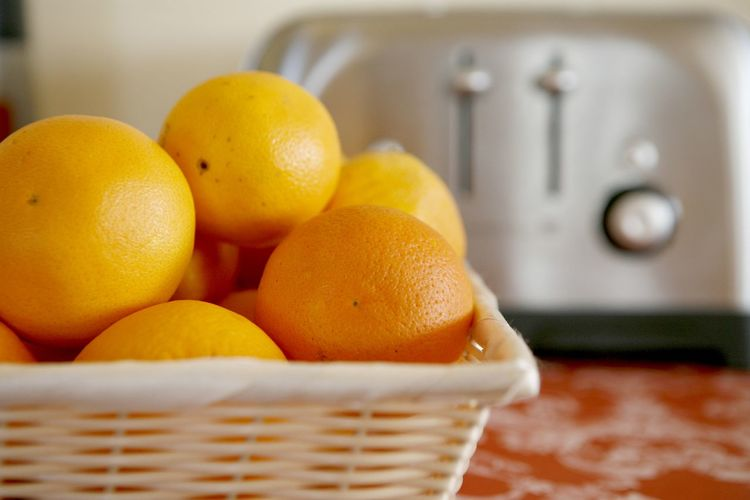 Basket Breakfast Citrus Fruit Close-up Day Focus On Foreground Food Food And Drink Freshness Fruit Healthy Eating Indoors  No People Orange Toaster