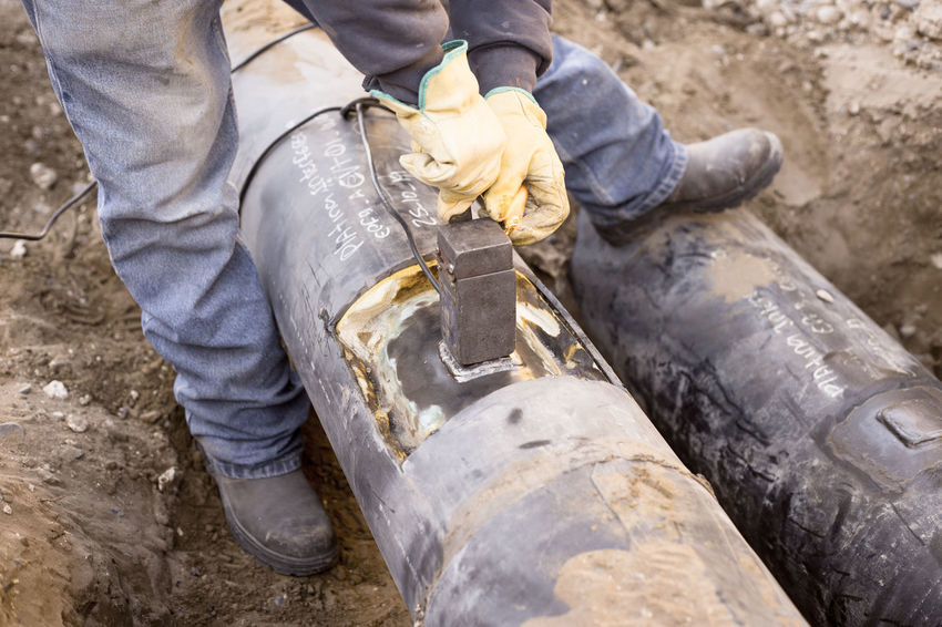 Petroleum Cathodic Cathodic Protection Corrosion Day Fire Flowline No People Oil Oil&gas Tools Unrecognizable Person Welding Work Working