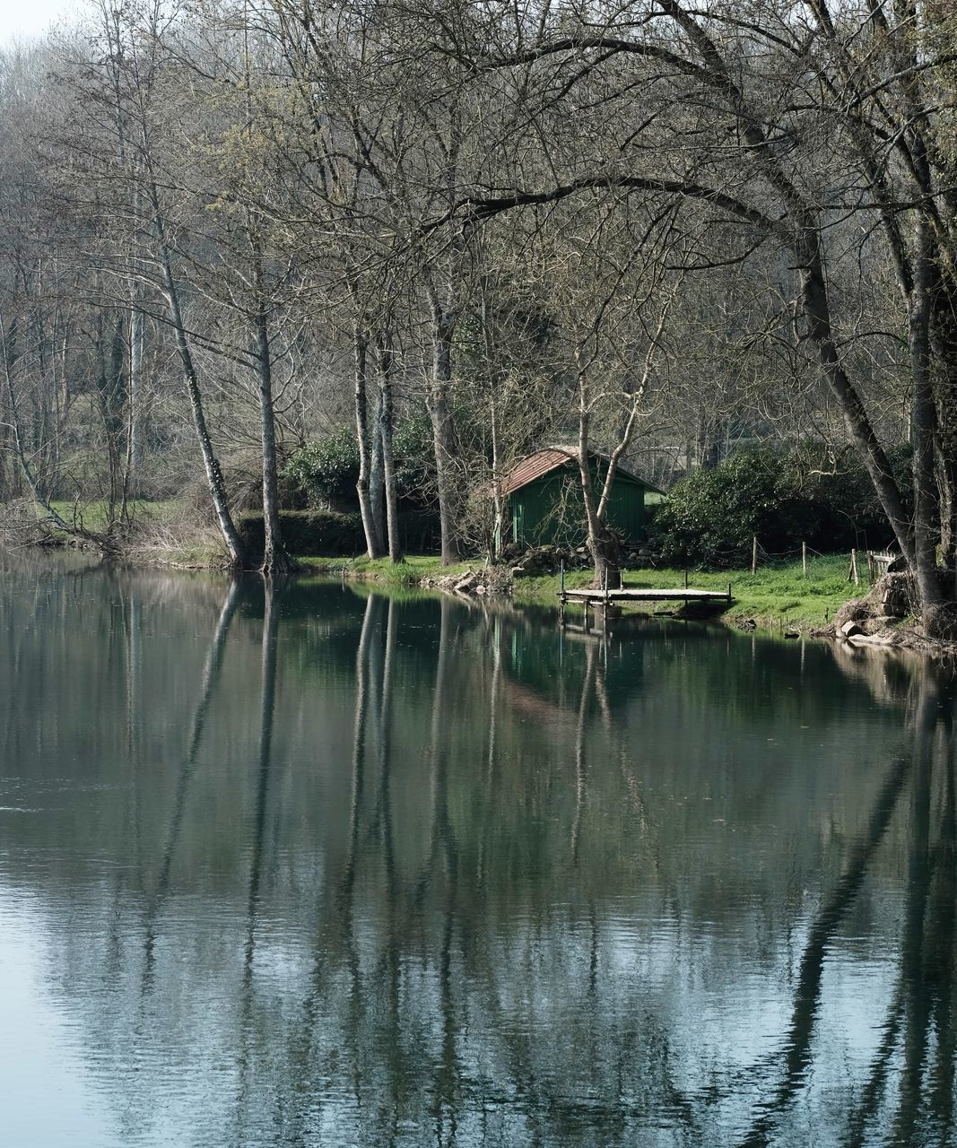 SCENIC VIEW OF LAKE WITH REFLECTION