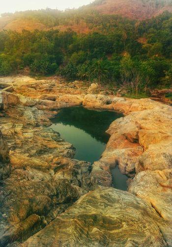 lake on rock