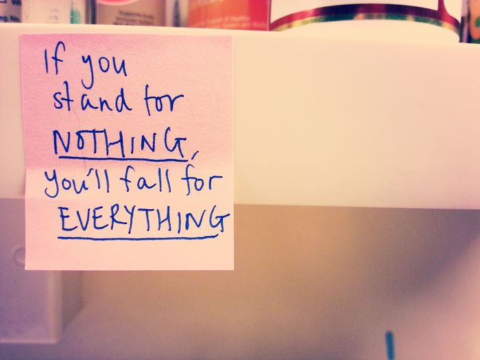 "Truth Lifehack Standforsomething ""if you stand for nothing, you'll fall for everything"""
