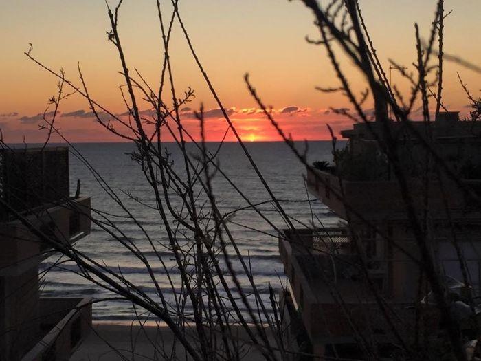 Sunset Sun Sea Sea And Sky Romantic roma Roma Love