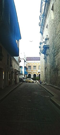 Old Buildings Street Cartagena Panoramic