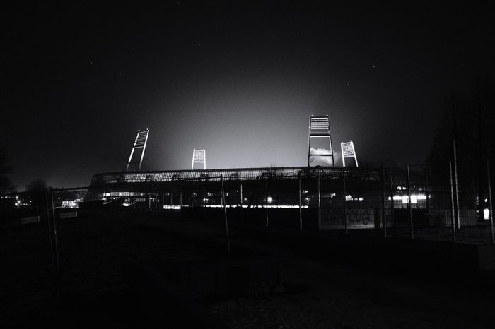 Weserstadion Night Built Structure Architecture Illuminated Clear Sky Sky Building Exterior No People Outdoors Sport Place Of Heart