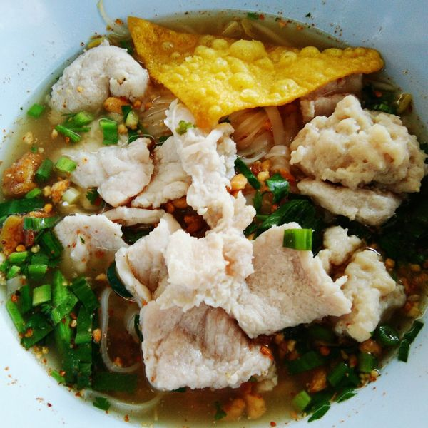 #Chiang Mai #Thailand #noodle #lunchtime Plate Close-up Food And Drink